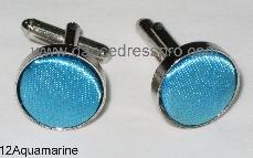 12 Cuff Link - Aquamarine