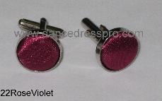 22 Cuff Link - Rose Violet