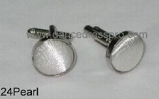 24 Cuff Link - Pearl
