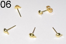 06 Gold Needles (made of gold-plated iron, 4mm diameter)