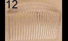 12 Colorless plastics comb (around 8.5cm x 5cm)