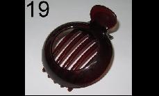 19 Brown round-shape plastics claw clip (around 10cm x 7.5cm)