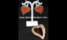 20 Black / Brown heart-shape plastics claw clip (around 5cm x 7cm)